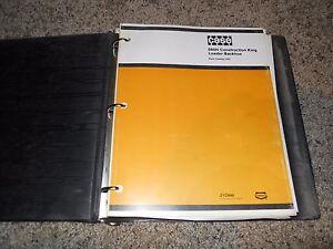 Case 680H Construction King Tractor Backhoe Loader Factory Parts Catalog Manual