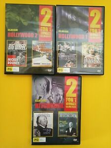 HOLLYWOOD 1 & 2 AND HITCHCOCK CLASSIC - 6 MOVIES