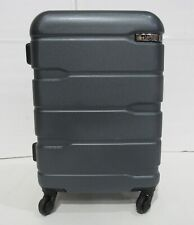 """DAMAGED ZIPPER Coolife 1 Luggage Suitcase ABS Spinner Travel 20"""" TSA Teal A447"""