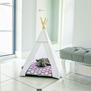 Glamour Teepee cat bed - Pink Dots, cat tipi with pillow*luxury cat*cat tent