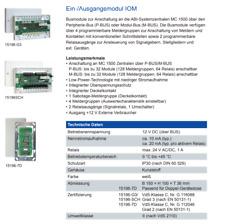 ABI Sicherheitssysteme Ein Ausgangsmodul (IOM) 15196VN