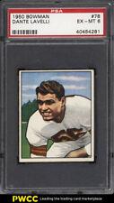 1950 Bowman Football Dante Lavelli ROOKIE RC #78 PSA 6 EXMT (PWCC)