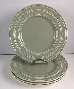 "4 Wedgwood JASPER CONRAN Casual Green 9"" Salad / Dessert Plates"