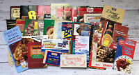 Vintage Lot of Cookbook Pamphlets Promotional Recipes 1990's Housewife