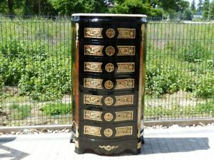BOULLE - FRANCE LOUIS XIV BOULLE STYLE CHEST OF DRAWERS #LU38