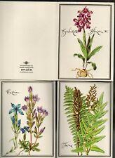 DDR-Postkarten-Serie mit Heilpflanzen von 1986 mit 12 Karten