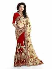 Sari Indian Ethnic new Braso Embroidery latest for Wedding Party wear (K555)