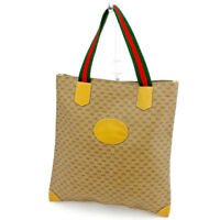 Gucci Tote bag G logos Beige Red Woman unisex Authentic Used T1525
