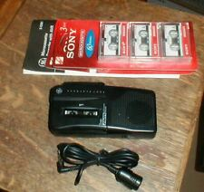 Ge Auto Voice Recorder Avr Model-3-5381 Fast Playback & 6-Micro Cassette Tapes