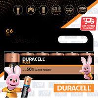 6x DURACELL C Plus Power Alkaline Batteries DURALOCK LR14 MN1400 Longest Expiry