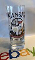 "4"" Tall Shot Glass Kansas 34Th State glass"