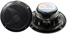 "Pair New Pyle PLMR60B 6 1/2"" Dual Cone Waterproof Stereo Speaker System Kit"