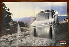 2022 GMC Hummer EV top off    Interior  Two Sided 29x18 inch poster  In Maginize