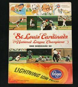 1969 7/16 BASEBALL SCORE-CARD PROGRAM ST LOUIS CARDINALS VS PITTSBURGH PIRATES