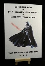 Personalised Handmade Star Wars Darth Vader Birthday Card - 21st 40th 50th 60th