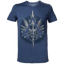 Assassin's Creed syndicat Brotherhood Crest Logo avec canne T-shirt, XL, bleu