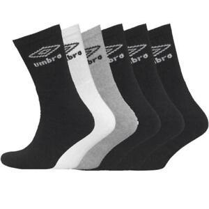 Umbro Mens Sports Socks Trainer 3 & 6 Pairs Running Mid Calf Sock Size UK 6-11