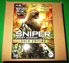 Lot of 12 (Sealed Case)  Sniper Ghost Warrior - PC - Gold Edition - Free Ship!