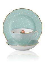 Royal Albert Polka Rose 3-Piece Set TRIO TEA CUP, SAUCER, PLATE NEW IN BOX