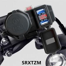 Waterproof 12v Motorcycle USB Charger Power Adapter Socket + Voltage Voltmeter