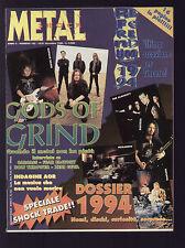 METAL SHOCK 182/1994 CARCASS ZENI GEVA FEAR FACTORY JOHN PAUL JONES DIAMANDA
