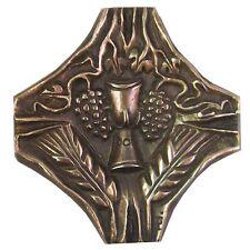 Bronzekreuz Kelch Wein Ähren 9 cm * 9 cm Bronze Cross chalicewine ears of corn