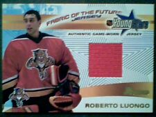 ROBERTO LUONGO 01/02 AUTHENTIC PIECE OF A YOUNG STARS GAME-WORN JERSEY