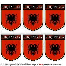 ALBANIA Albanian Shqiperia Shield 40mm Mobile Cell Phone Mini Stickers-Decals x6