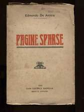 PAGINE SPARSE Edmondo De Amicis Casa Ed Madella 1915