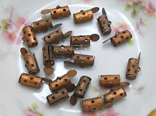 #802 Vintage Crimp Beads Brass Findings Connectors Loop Button Shank Tube Holes