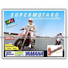 PUB SUPERMOTARD à LINAS MONTLHERY - Publicité COURSE MOTO 1988
