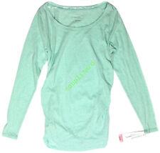 New Women's Maternity Shirt Top Ruche Mint Green Liz Lange NWT Size XL