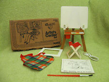 SINDY ARTIST CENTER Vintage 1979 MAIL ORDER Playset MARX Paint Art Furniture SET