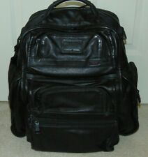 TUMI  ALPHA 2  96578DH  BLACK LEATHER BACKPACK  $675
