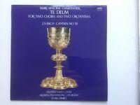 LP Vinyl Marc-Antoine Charpentier Te Deum J.S. Bach Cantata No. 50 BWV 50 ZÁMBÓ