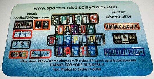 Hardball34 sport card booklet cases