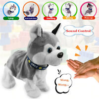 Electronic Pet Puppy Toy - Sound Control Robot Dog Soft Plush Stand Walk Gift UK