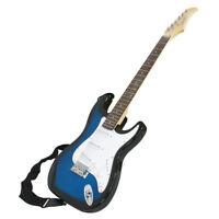Bag Case & Picks Beginner  Blue Full Size Electric Guitar with Amp Case amp Gig