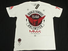 NWT Mens Ecko Unltd T-Shirt MMA Wings Graphic Print Tee White Urban Size M N149