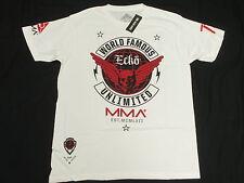 NWT Mens Ecko Unltd T-Shirt MMA Wings Graphic Print Tee White Urban Size L N149