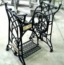 VINTAGE GRITZNER TREADLE SEWING MACHINE CAST IRON BASE, TABLE LEGS,RESTORED