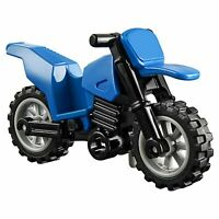 LEGO Motorbike City Blue Dirt Bike Motorcycle Town Wheels Stand Genuine Toy New