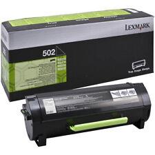1 x Lexmark 502 Black Original OEM Toner Cartridge MS310, MS410, MS510, MS610
