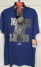 New, Men's, Boys, Puma, Athletic, Short Sleeve, Shirt & Socks, Blue, XL