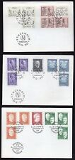 SWEDEN 1969 - 1977 NOBEL PEACE PRIZE WINNERS FOR 8 YEARS ON 8 FDC's