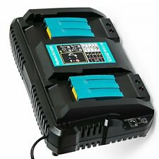 Makita DC18RD 7.2v-18v LXT Li-ion Twin Port Rapid Battery Charger + UK Plug