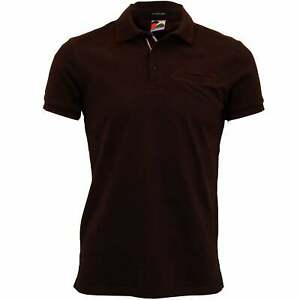 Premium Pique Men's Polo Shirt with pocket and contrast rib details, Burgundy