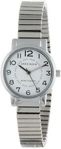 Anne Klein AK/1267WTSV White Dial Stainless Steel Women's Watch
