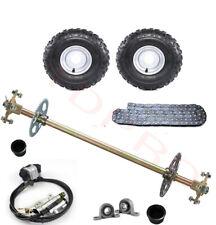 "New listing Go Kart Rear Live Axle Kit, 7/8"" x 30"" Axle, 6"" Wheels Brake Caliper Drift Trike"
