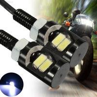A7CB White LED Universal Motorcycle Car License Plate Screw Bolt Light Lamp Bulb